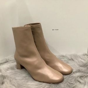 By Far Sofia Ankle Boots in Nude